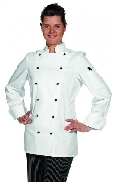 Leiber Damen-Kochjacke mit Ärmeltasche