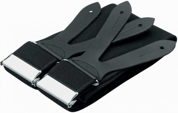 BODO - FHB Hosenträger schwarz Lederknopfpatte