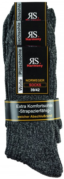 "WOLLSTRUMPF ""NORWEGER ANTHRAZIT"" 3er Pack"